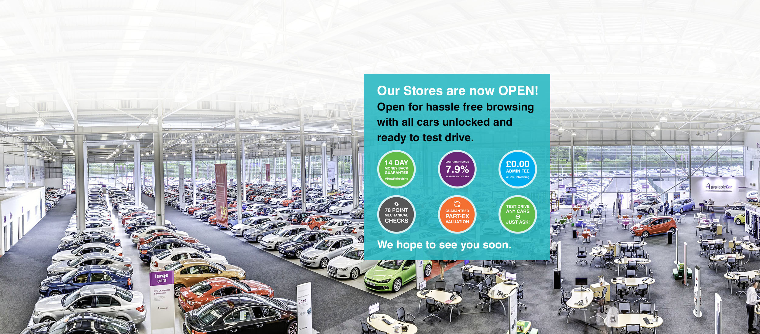 Visiting REAL Stores with cars you can REALLY test drive is still SO important to Customers!